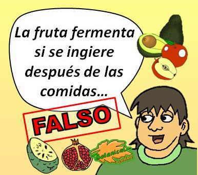 Mitos alimentarios la fruta fermenta en el estómago si se ingiere de postre con las comidas