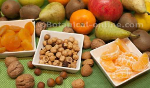 Fruta seca, frutos secos, fruta fresca, opciones de desayuno, merienda
