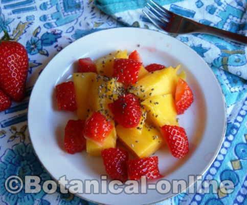 foto mango con fresas