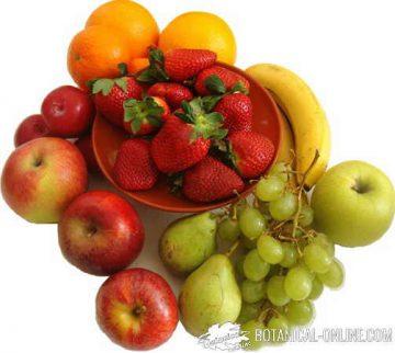 fuente de fruta