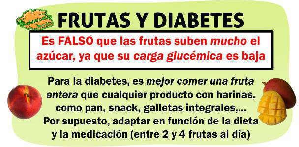 es un mito falso que la fruta se deba eliminar de la dieta para la diabetes