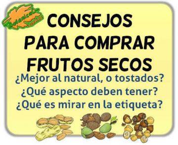 como comprar frutos secos natural tostados aspecto etiqueta