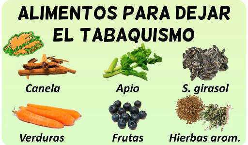 alimentos suplementos naturales dejar de fumar