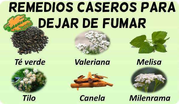 dejar de fumar remedios plantas medicinales