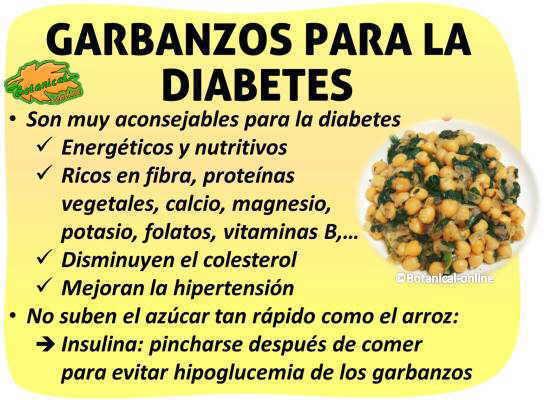 propiedades de los garbanzos para la diabetes, hipoglucemia de los garbanzos, insulina, nutrientes, hidratos de carbono, carga indice glucemico