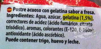 etiqueta gelatina con azucar