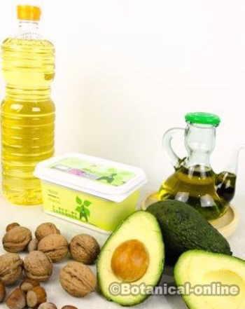 grasas buenas malas omega aceite oliva refinado nueces frutos secos aguacate