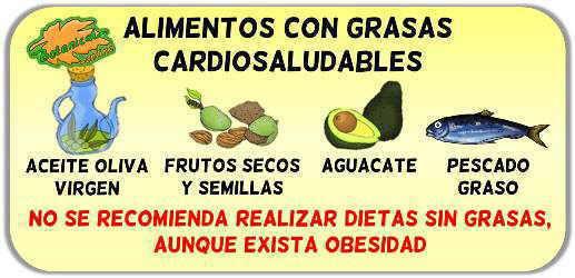 alimentos ricos en grasas sanas para la salud del corazon o cardiosaludables