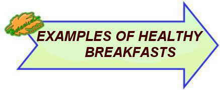 examples of healthy breakfasts