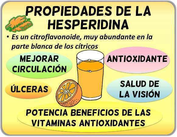 propiedades de la hesperidina citricos jugos zumo naranja