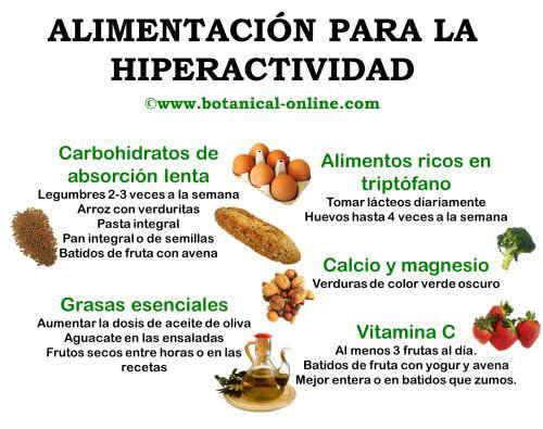 Alimentos para la hiperactividad