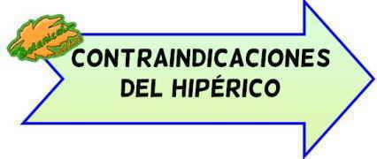 contraindicaciones del hiperico
