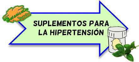 suplementos para la hipertension