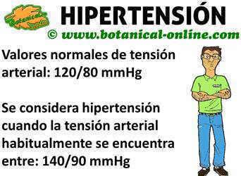 hipertension valores normales y elevados