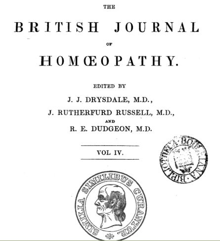 revista científica British Homoeopathic Journal