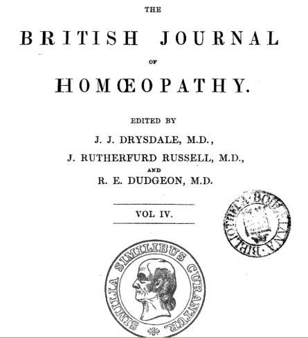 revista científica British Homoeopathic Journal