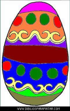 dibujo huevo de pascua