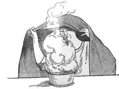 ilustración vaporizaciones o vahos