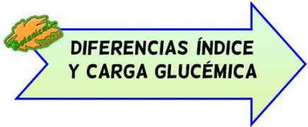 carga glucemica indice diferencias
