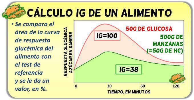 como calcular test de indice glucemico y curva de respuesta test ig