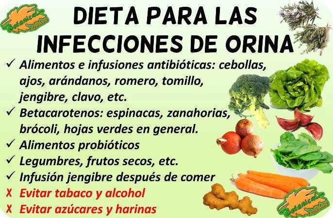 dieta para las infecciones de orina
