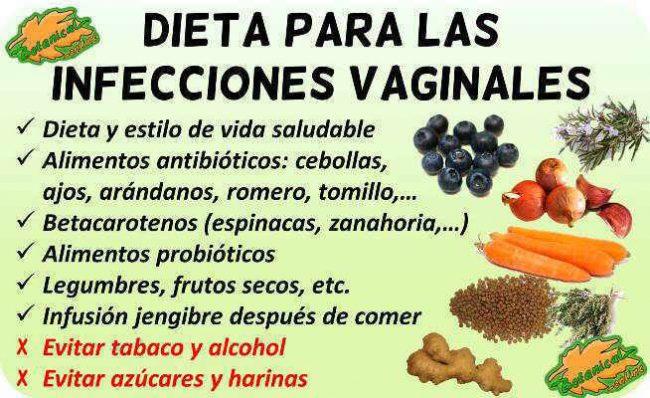 dieta para infecciones vaginales alimentacion alimentos recomendados
