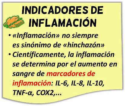 propiedades antiinflamatorias marcadores de inflamación