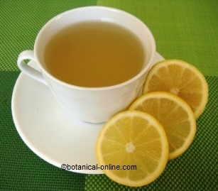Infusion of lemon with honey.