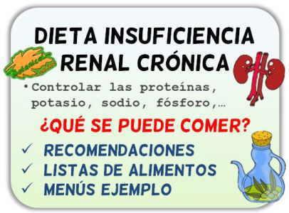 insuficiencia renal cronica dieta alimentos listas
