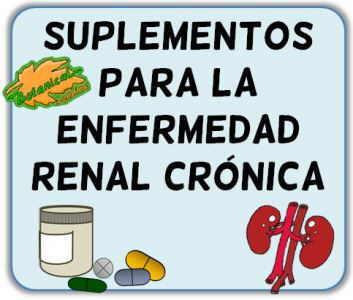 suplementos nutricionales enfermedad renal cronica IRC