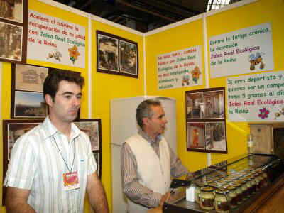 Expositor productos apicolas