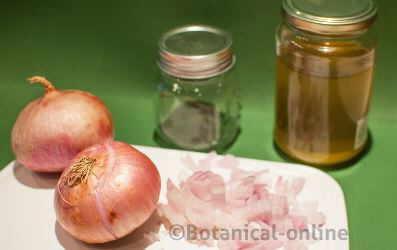 jarabe de cebolla y miel