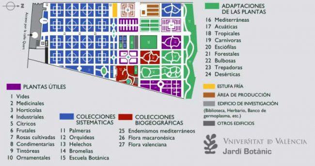 jardin botanico valencia mapa