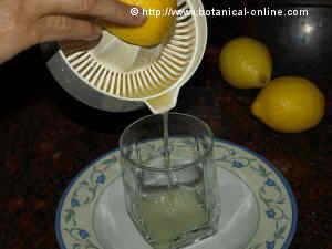 jugo de limon
