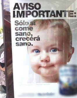 anuncio biberon publicidad en contra lactancia materna leche formula