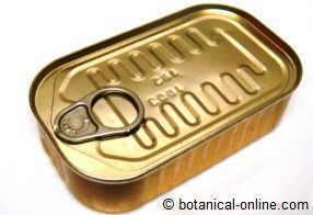 Metales pesados en los enlatados, aluminio
