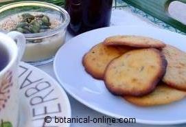 desayuno con galletas de lavanda