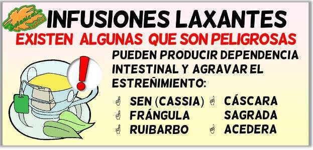 infusiones laxantes de plantas medicinales estreñimiento constipacion