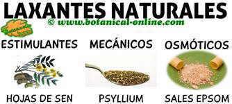 tipos de laxantes naturales, osmoticos, mecanicos y estimulantes, remedios contra el estreñimiento