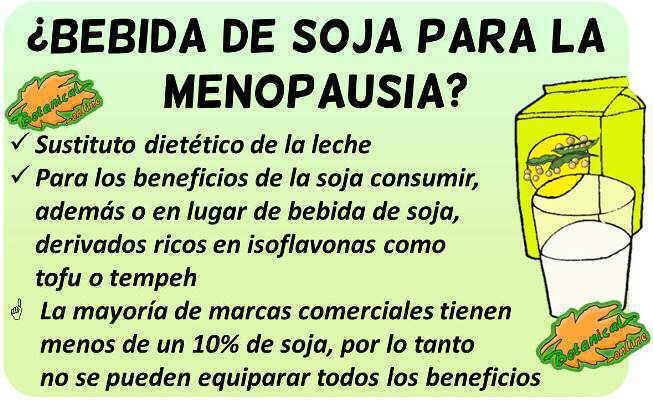 leche de soja para la menopausia