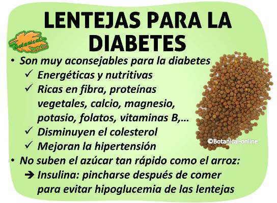 propiedades de las lentejas para la diabetes, hipoglucemia de las lentejas, insulina, nutrientes, hidratos de carbono, carga indice glucemico