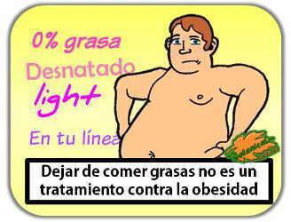 comida light desnatada para la obesidad 0% grasas para adelgazar funciona