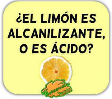 limon propiedades como alimento alcalinizante y alimento acido