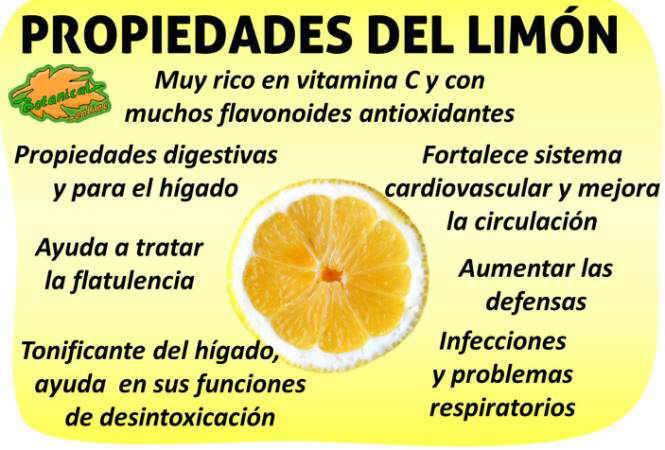 propiedades curativas del limon y sus beneficios