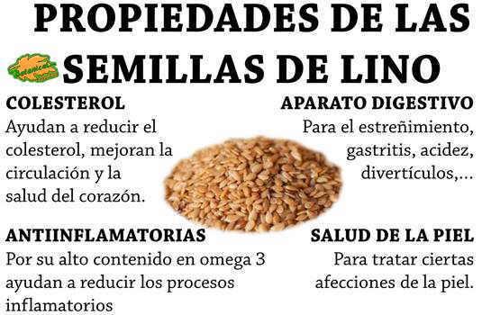 propiedades medicinales de las semillas de lino o linaza