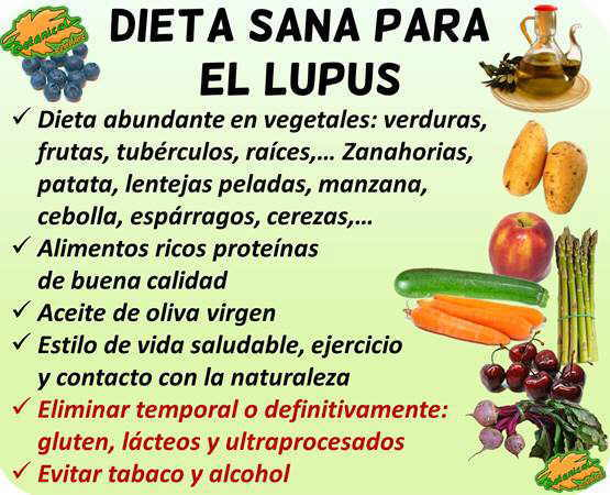 dieta lupus alimentos recomendados