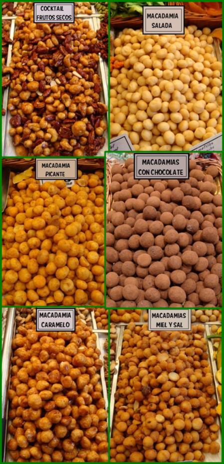 nueces de macadamia en mercado