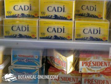 diferentes tipos de mantequilla