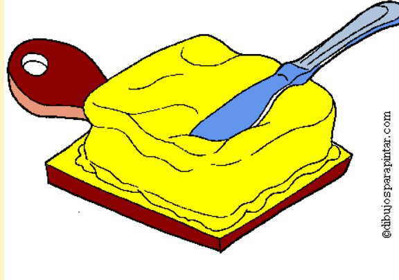 dibujo mantequilla