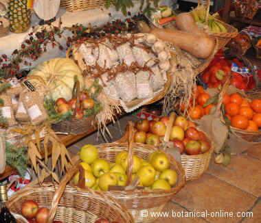 Manzanas con frutas y verduras